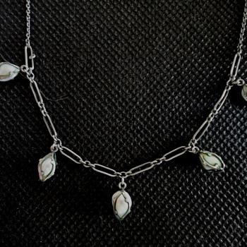 Barroque pearl silver necklace by Rodi & Wienenberger of Pforzheim c. 1900 - Fine Jewelry