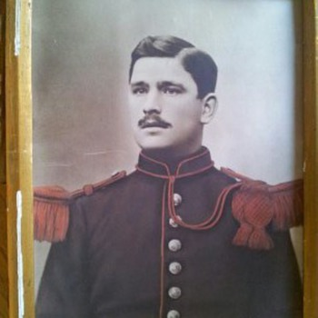 Military man in photo is unknown - Photographs