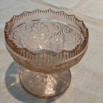Beautiful Pink Pedestal Dessert Dishes - Glassware