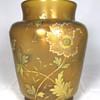 "Fritz Heckert Amber Glass Vase. 8.5"" Tall. Circa 1900"