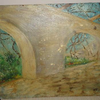 WM Caddell? Oil on Wood - Fine Art