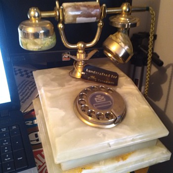 Marble rotary phone