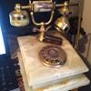 Marble rotary phone