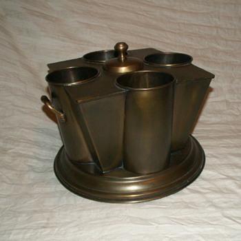 French Brass (4) Wine Bottle Cooler ~ Williamson Designs - Kitchen