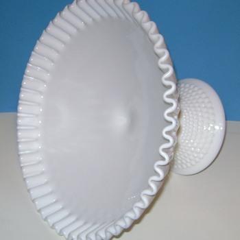 Fenton Hobnail Milk Glass Bowl - Glassware
