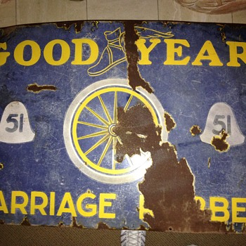 Goodyear Carriage Rubber Sign from India.