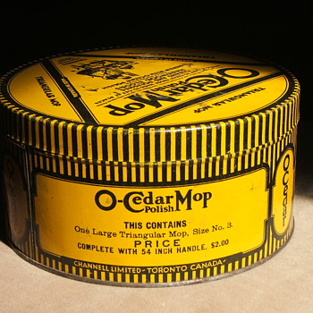 O-Cedar Mop tin - Advertising