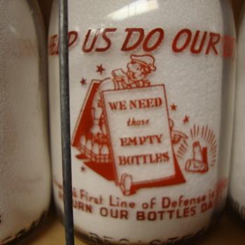 MIDDLESEX FARM DAIRY...NEW BRUNSWICK NEW JERSEY WAR SLOGAN MILK BOTTLE - Bottles