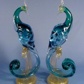 Cool Birds  - Art Glass