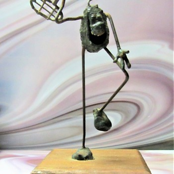 UNIQUE FOLK ART METAL MYSTERY SCULPTURE  - Fine Art