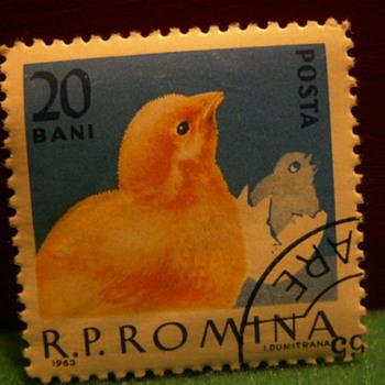 1963 R.P. Romina 20 Bani Stamp ~ Romania