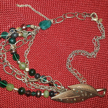 interestingly messy CHICO'S necklace - Costume Jewelry