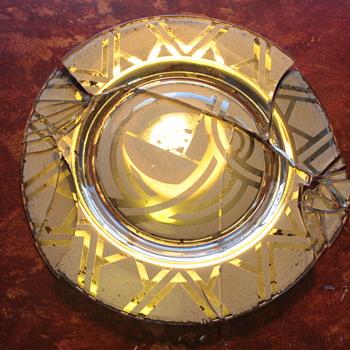 Art Deco Glass Plate - Art Deco