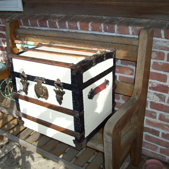 Hat Trunk - Painted White  - Furniture