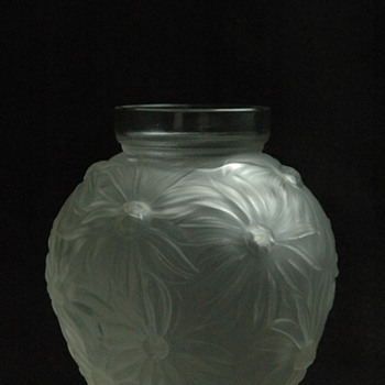 "french art deco glass vase "" VASE AUX TOURNESOLS "" by EDMOND ETLING - Art Deco"