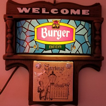 Welcome Burger Beer 1973/74 Calendar - Signs