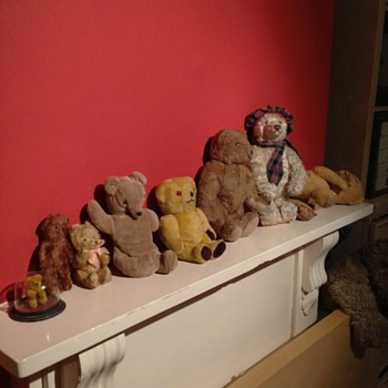 A Collection of old teddy bears - Animals