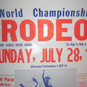 Casey Tibbs World Championship Rodeo Poster - Posters and Prints