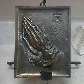 ALBRECHT DURER PRAYING HANDS BRONZE WALL PLAQUE