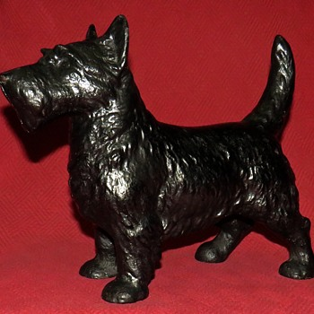 "1930 Cast Iron Hubley #305 ""Scotty"" Doorstop - Animals"