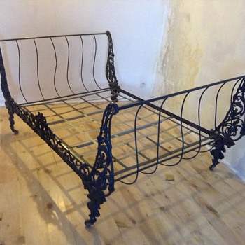 Steel antique French bed - Furniture