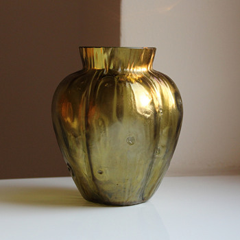 Loetz Bronze – Gold Rusticana Vase - Art Glass