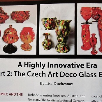 Finally! Part II AAG Article Czech era Kralik, and background from mid 1800s - Art Glass