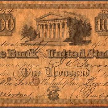 The Bank of The United States - Novelty Note - Paper