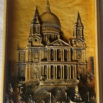 Arthur Osborne wall plaque - St.Paul's Cathedral  London - Fine Art