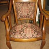 Solid Oak Claw Foot Chair