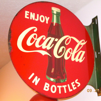1954 Coca-Cola Flange Sign - Coca-Cola