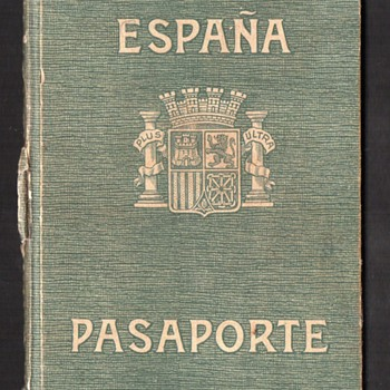 Spanish Civil War Era Passport - ca 1938.