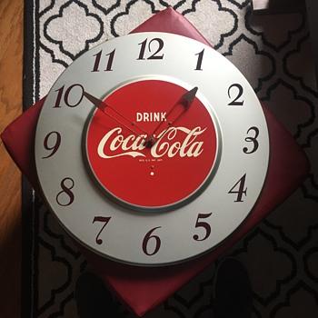 Coca Cola Silver Clock - Coca-Cola