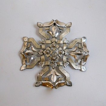 """Silver Sterling Cross """"Creed"""" Canada, 20 Century"""