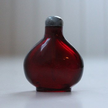 Ruby Red Glass Snuff Bottle