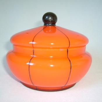 Czech Art Deco Tango Glass Box - Art Glass