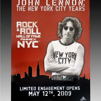 John Lennon poster-2009 - Music Memorabilia