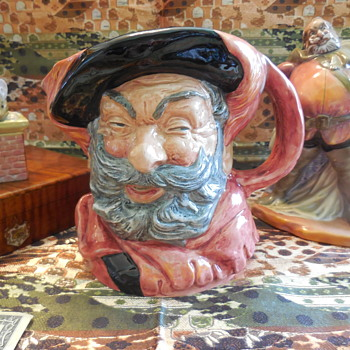 Royal Doulton Sir John Falstaff Large Toby Jug  D 6287 Made In England - China and Dinnerware