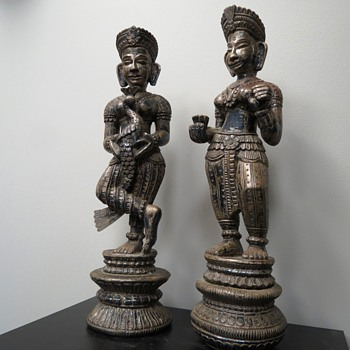 AWSOME METAL CLAD FIGURES FROM INDIA - Asian
