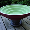 big pottery bowl by ettore sottsas