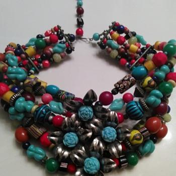 TURQUOISE CHOKER - Costume Jewelry