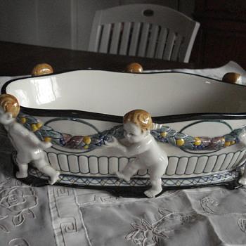 Wilhelm Süs Karlsruhe Majolica joyful bowl - Art Deco
