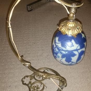 Emile Galle desk lamp - France, Art Nouveau