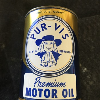 Purvis  motor oil can  - Petroliana