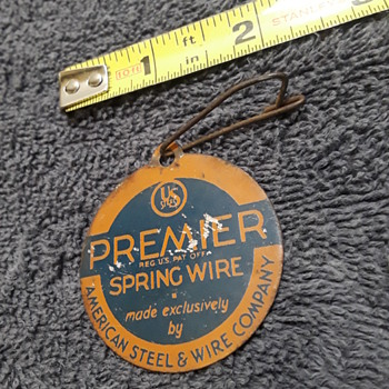 small metal tag from a (probably) antique 'box-spring' - Advertising