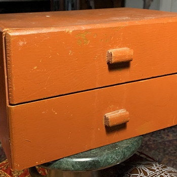 Two-Drawer Box made from cigar boxes - Folk Art
