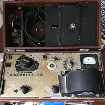 Sanborn cardiette machine. - Electronics