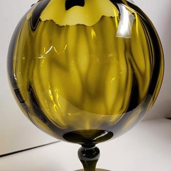 Large Emori Glass Vase - Art Glass