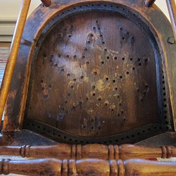 cane back oak spring base rocker photo update - Furniture