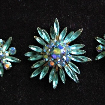 Judy Lee Brooch and Earring Jewelry Set  # 6  - Costume Jewelry